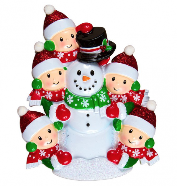 Building Snowman (Family of 5)