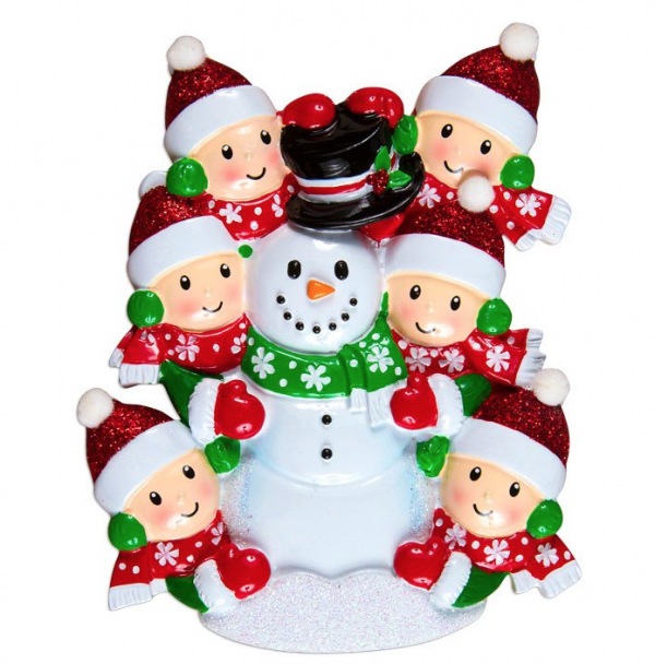 Building Snowman (Family of 6)